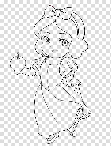 Snow White Seven Dwarfs Coloring book Disney Princess, baby.