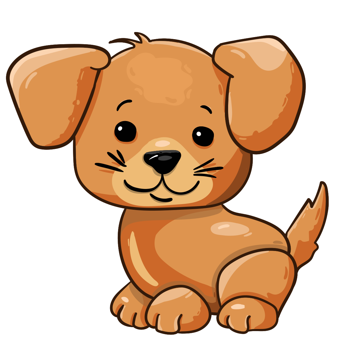 Cartoon cute puppy.