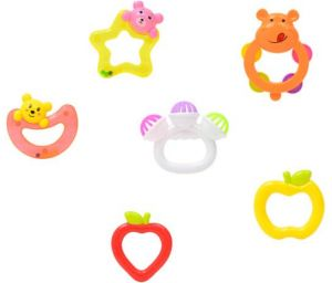 6 pcs Baby Rattles Teether Toys, Infant Shaking Bell Rattle Set Musical Toy  Set for 0, 3, 6, 9, 12 Month Old and Newborn Baby, Candy Colors.