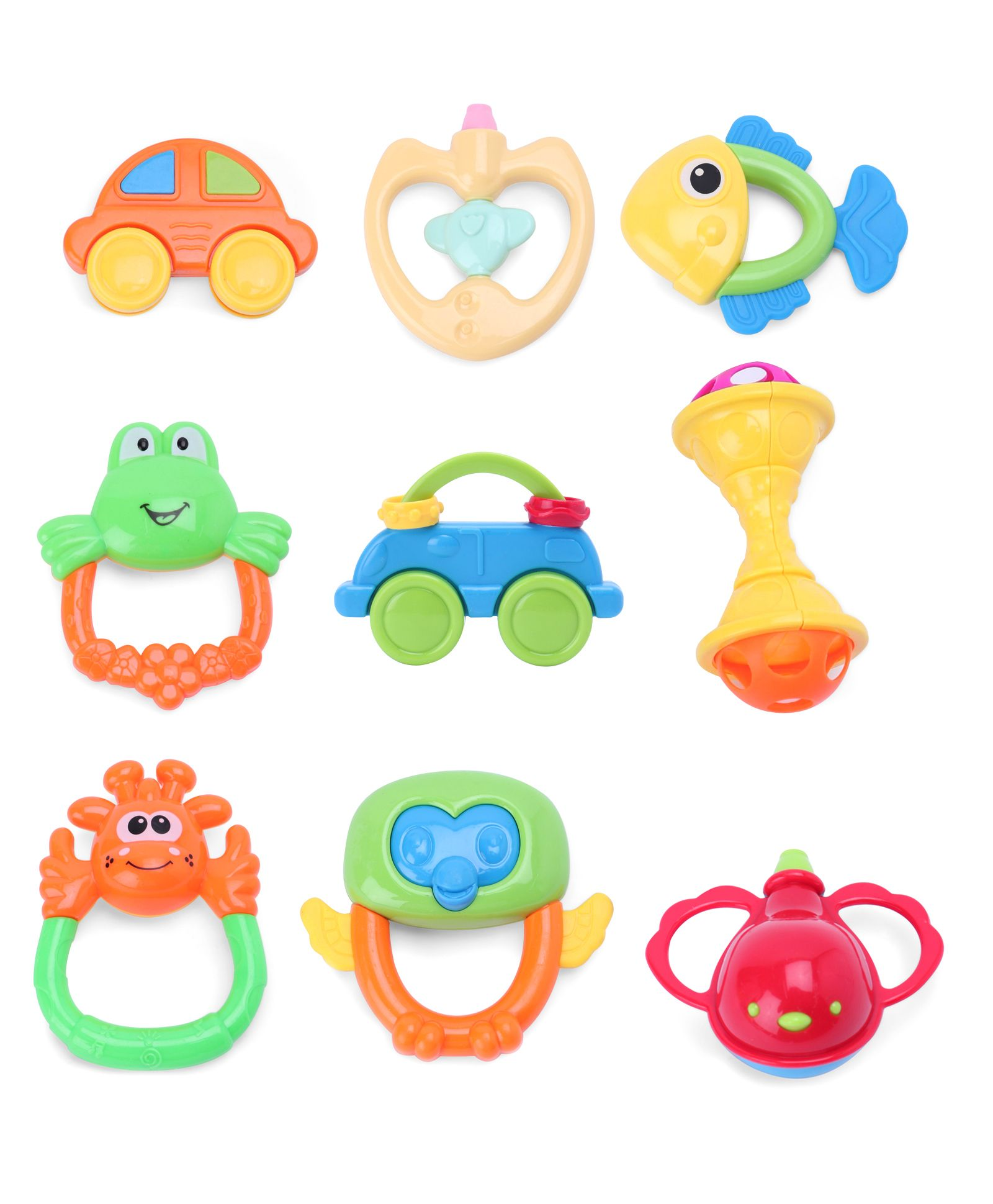 Baby Rattle Set of 9 Multicolour Online India, Buy Baby.