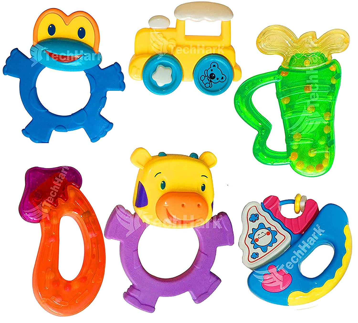 TechHark Colorful Lovely Attractive Big Size Rattles and.