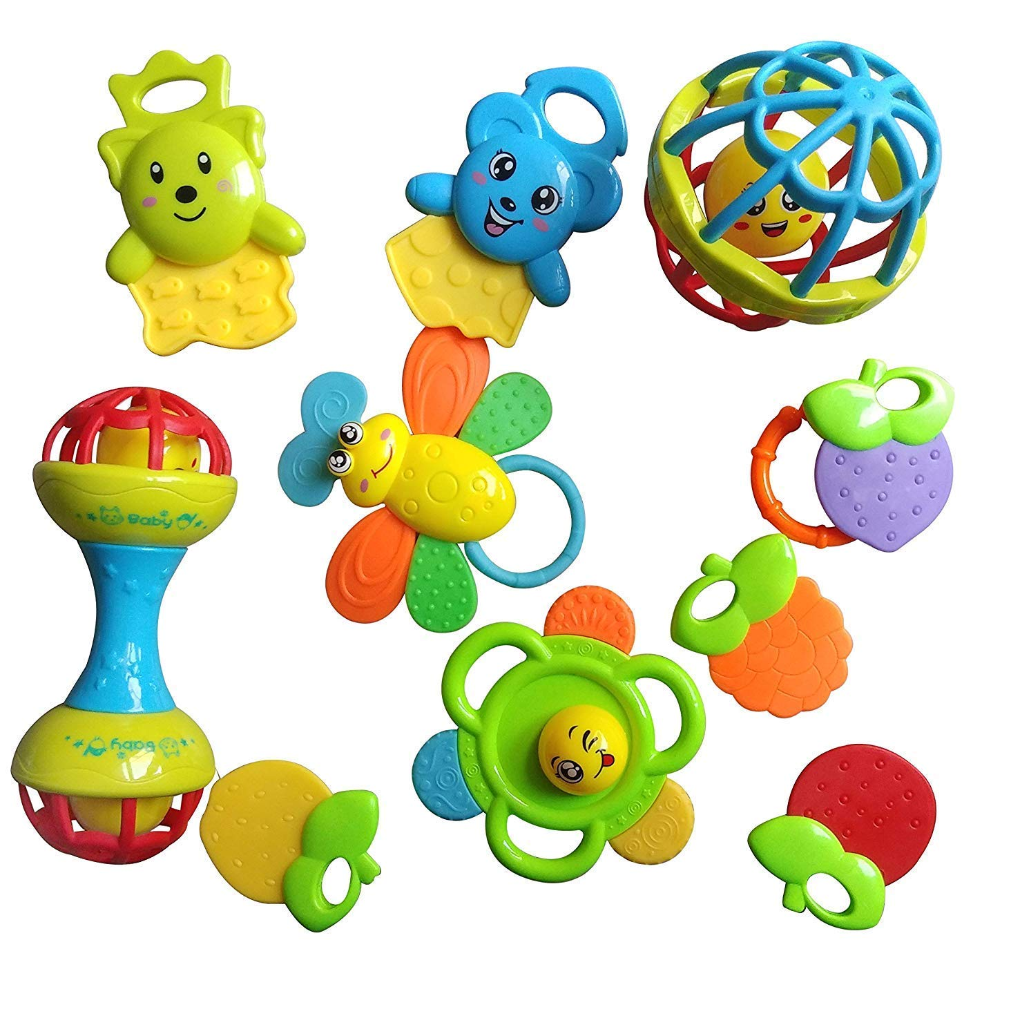 Techhark Rattles and Teether for Babies, Big Size.