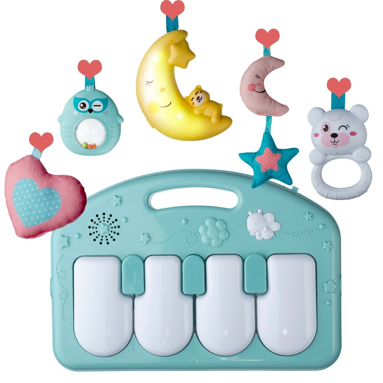 Activity Play Centers Large Baby Gym Kick and Piano Infant Mat for Babies 0  5.