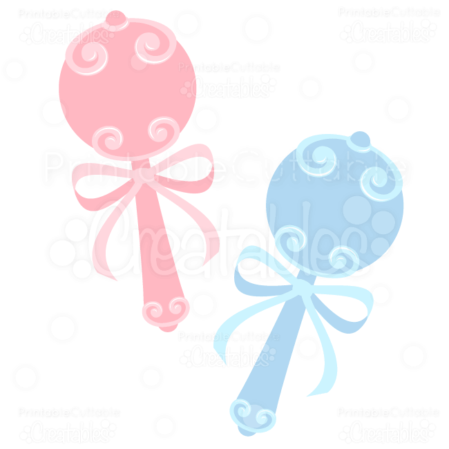 Sweet Baby Rattles SVG Cuts & Clipart.