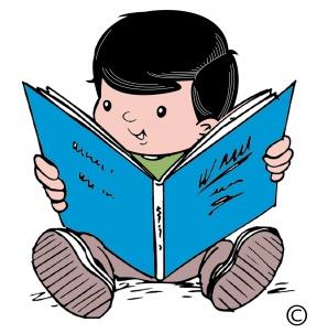 BABY READING BOOKCLIP ART.