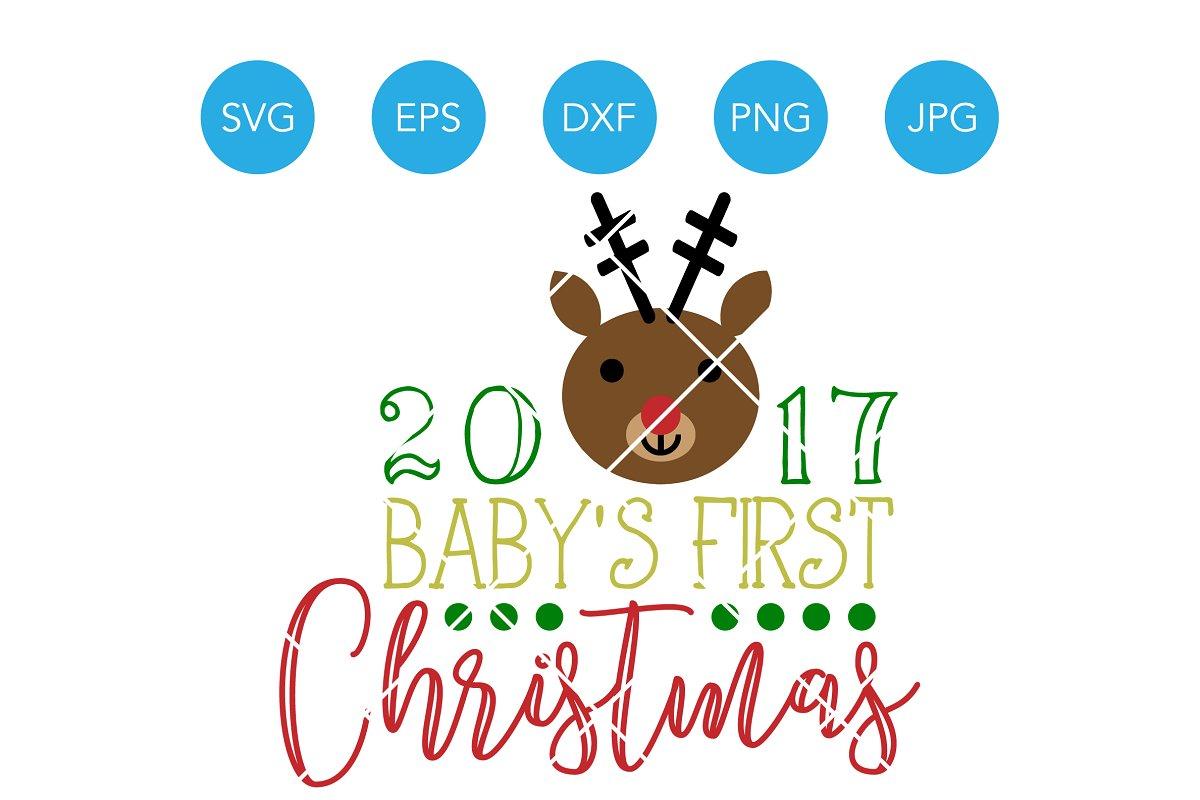 Babys First Christmas Deer SVG ~ Illustrations ~ Creative Market.