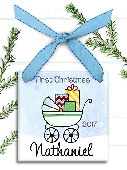 Amazon.com: hanjear59 Baby Boy Ornament Babys 1st Christmas.