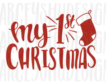 My First Christmas Clipart.