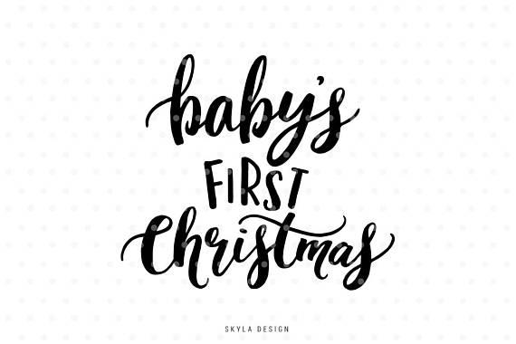 Baby\'s first Christmas, My first christmas, Christmas SVG.