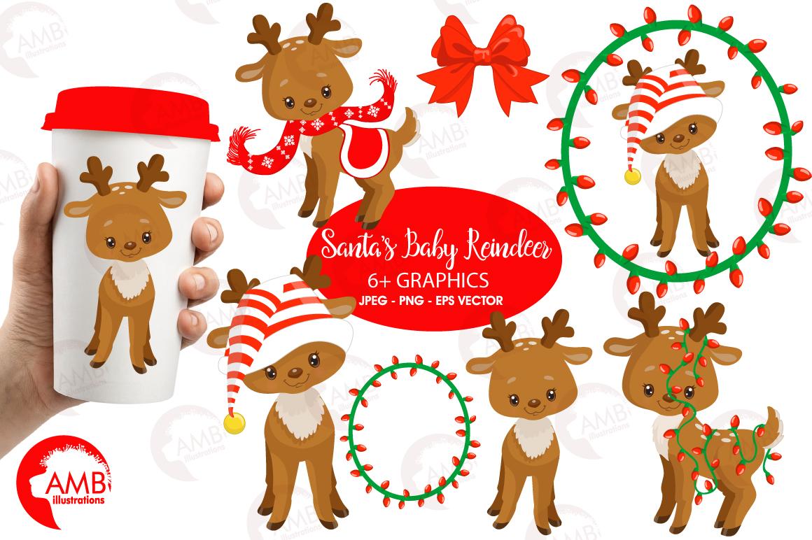 Santa's Baby Reindeer clipart, graphics, illustrationsAMB.