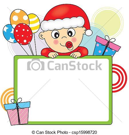 baby dressed as santa claus.