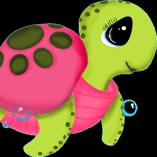 pink sea turtle.
