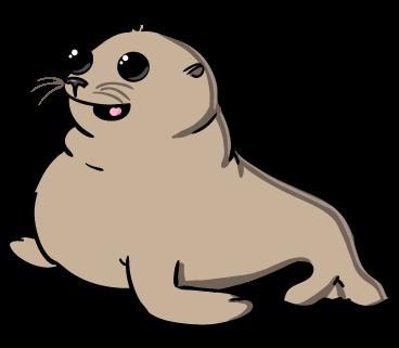 Cute seal clipart.