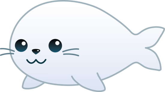 Cute White Baby Seal.