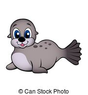 Baby seal Clip Art Vector Graphics. 1,518 Baby seal EPS clipart.