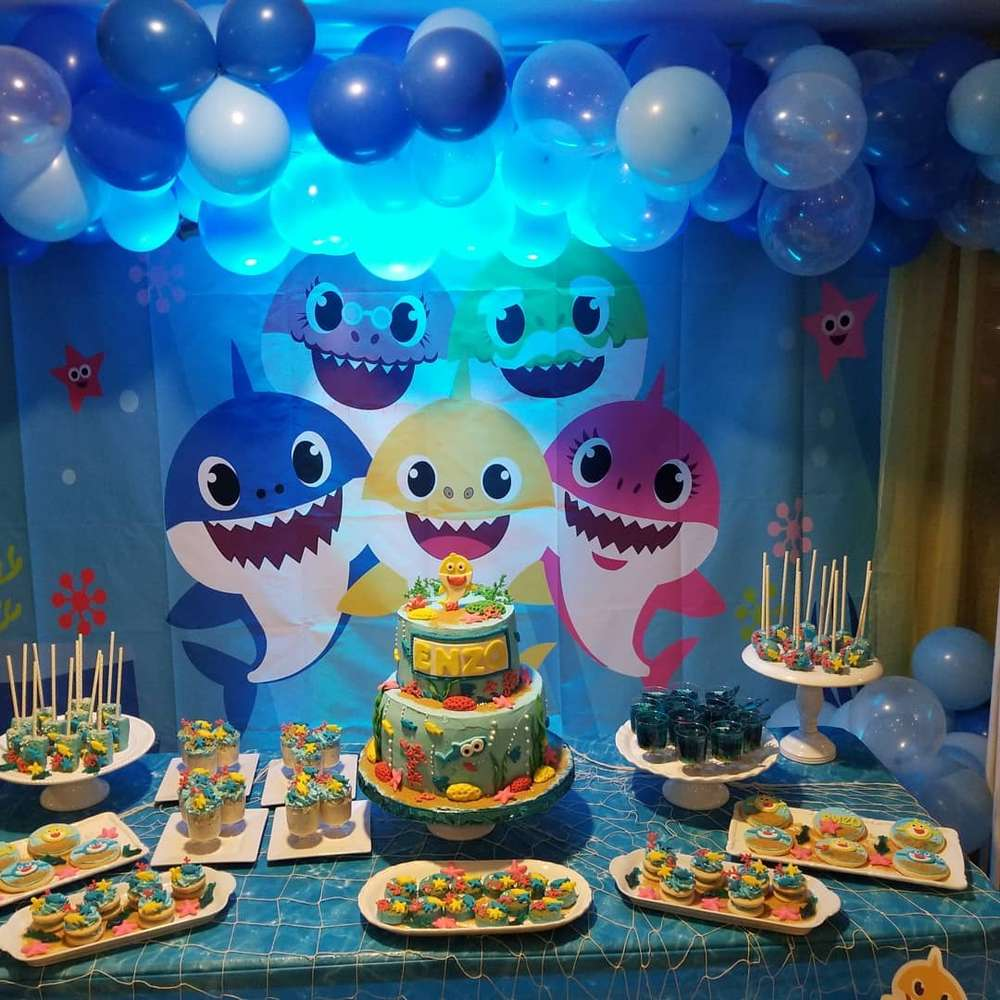 Baby shark Birthday Party Ideas.