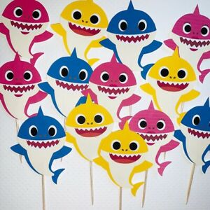 Details about 24 baby shark birthday party supplies.