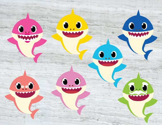 Family Shark SVG, Baby shark SVG , Mommy shark , Daddy shark.