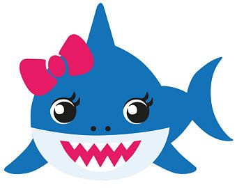 Image result for baby baby shark clipart.