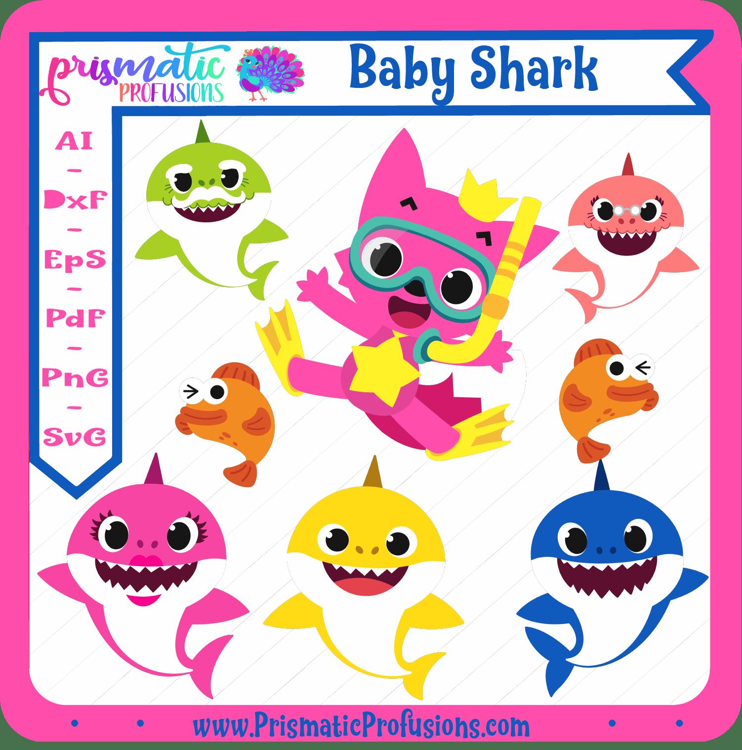 Baby Shark, Baby Shark SVG, Baby Shark Clipart.