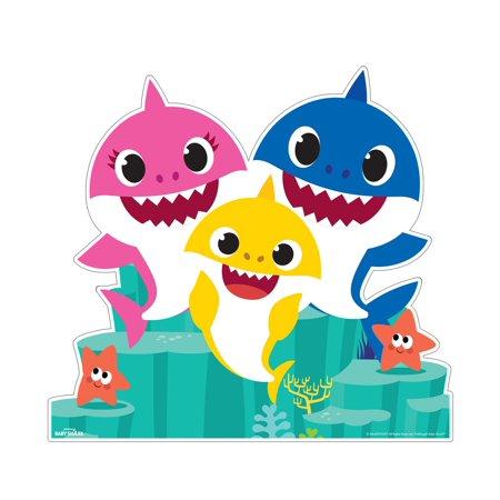 Baby Shark Family Frenzy Cardboard Stand.
