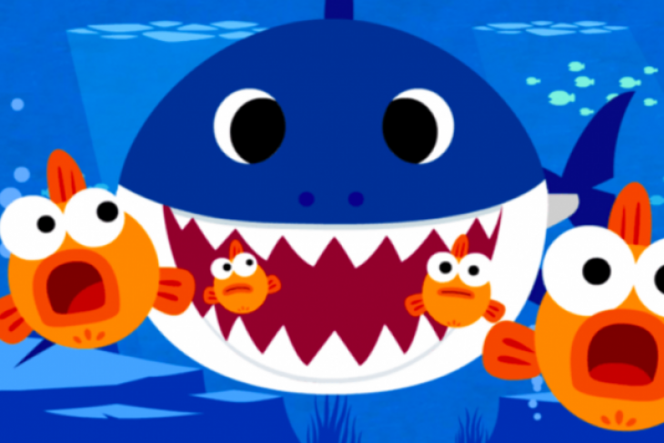 Baby Shark Fish clipart.