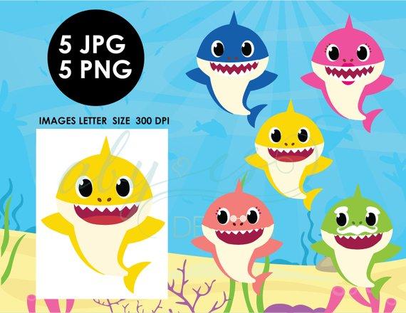 423 Baby Shark free clipart.