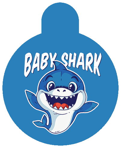 Baby Shark Pet Tag.