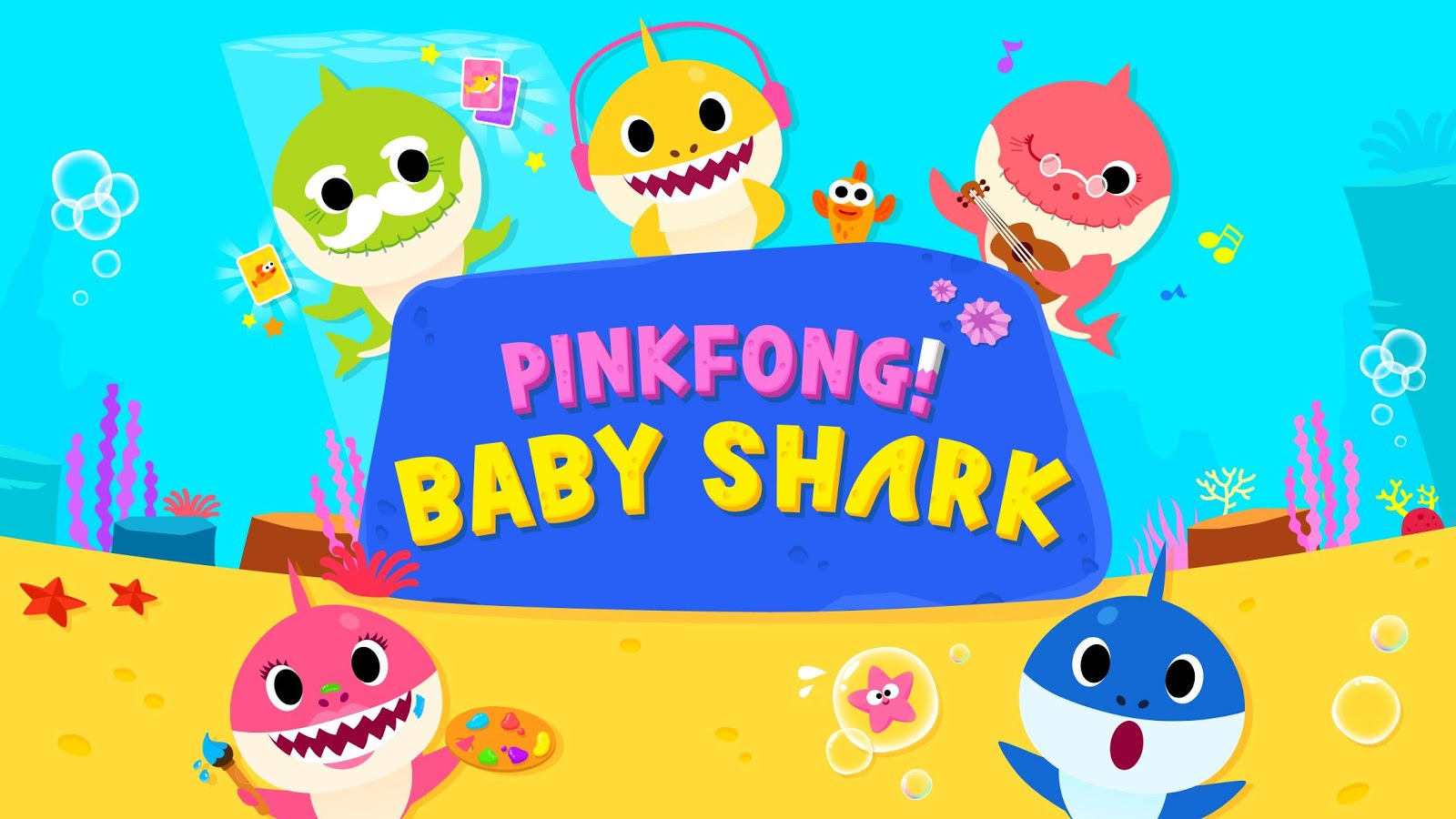 95+] Baby Shark Pinkfong Wallpapers on WallpaperSafari.