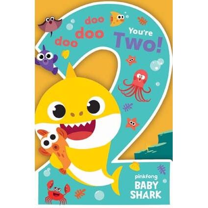 Baby Shark 2nd Birthday Card.
