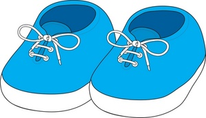 Baby Shoes Clipart.