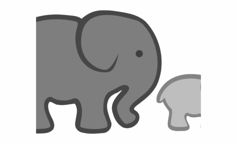 Elephant Clipart Cute Cartoon Baby Shower Baby Elephant.