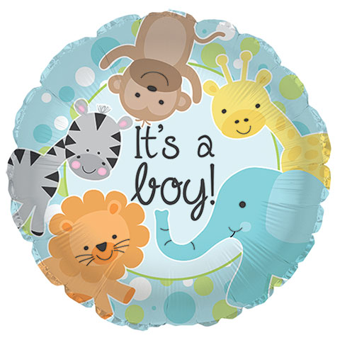 Baby Shower Balloons Clipart.