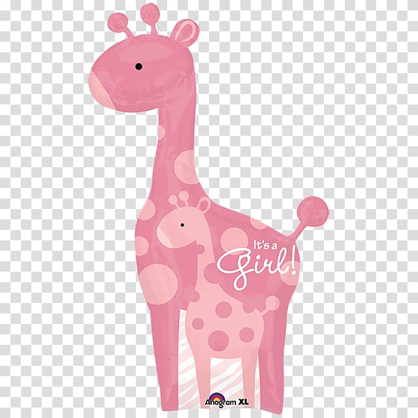 Giraffe Baby shower Mylar balloon Infant, giraffe.