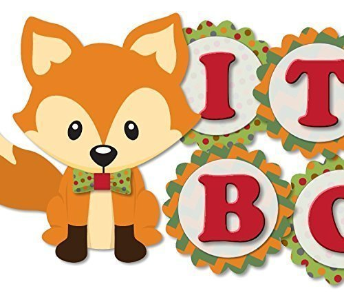 Personalized Woodland Fox and Racoon Birthday or Baby.