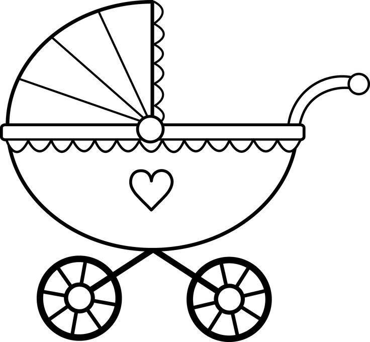 Baby Shower Black And White Clipart Clipground