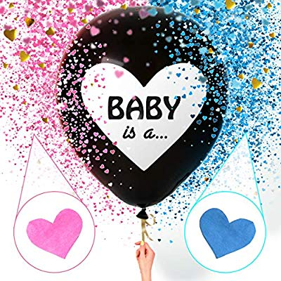 Sweet Baby Co. Jumbo 36 Inch Baby Gender Reveal Balloon.