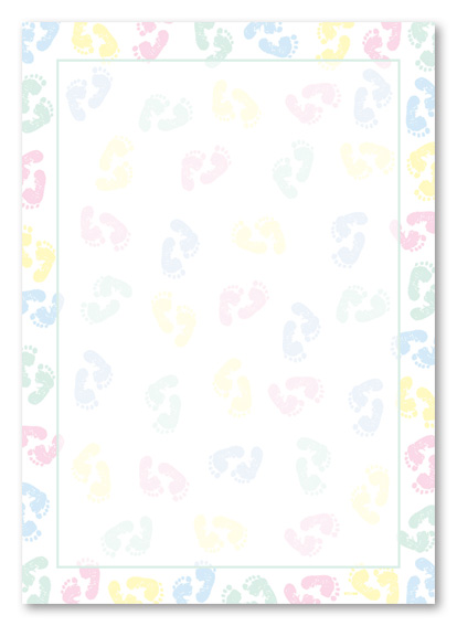 Free Baby Shower Borders For Word.
