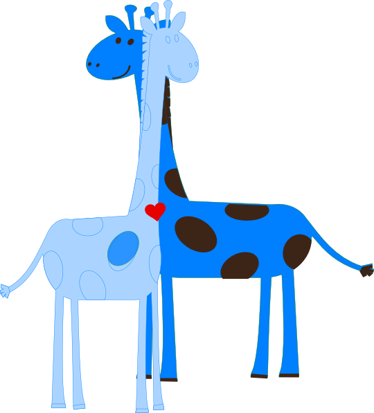 Boy Giraffe Baby Shower Clip Art at Clker.com.
