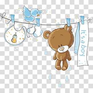 Baby shower transparent background PNG cliparts free.