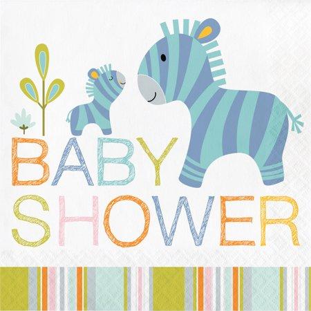 Happy Jungle Baby Shower Napkins, 16pk.