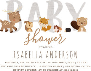 Gender Neutral Baby Shower Invitations.