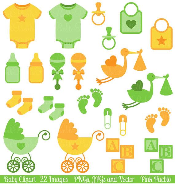 Baby Clip Art Clipart, Gender Neutral Baby Shower Clip Art Clipart.