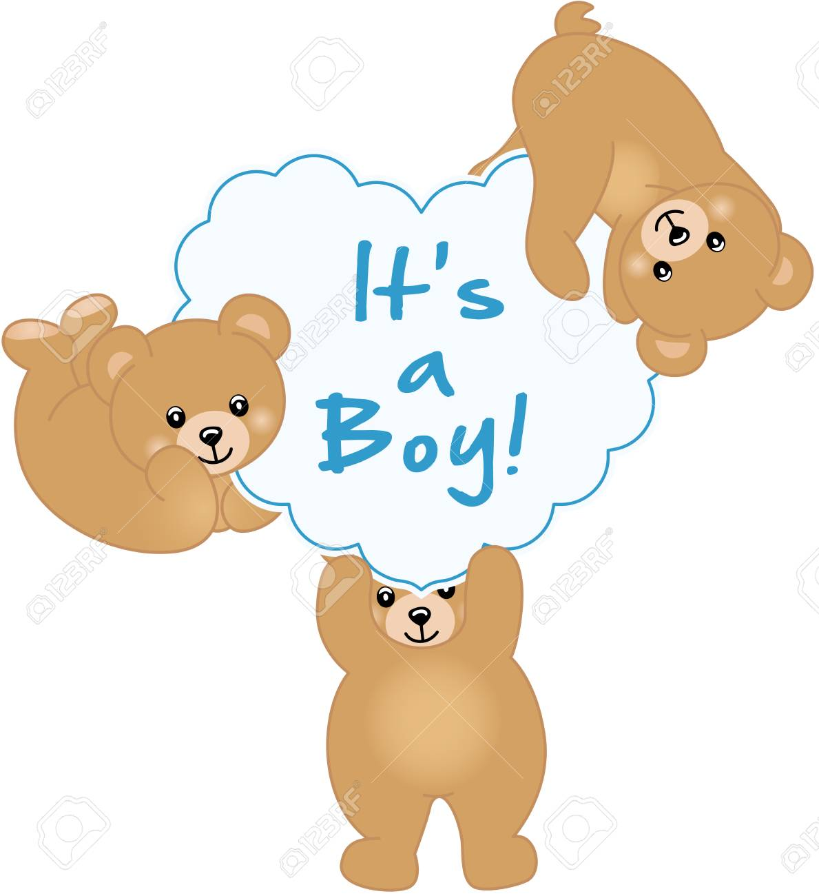Boy Teddy Bear Baby Shower.