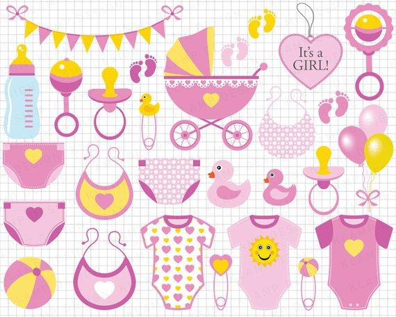 Baby Girl Clipart: \