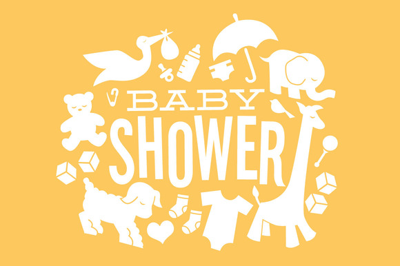 Neutral Baby Shower Clipart.
