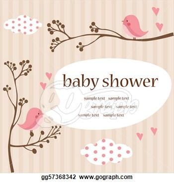 Girl baby shower clip art.