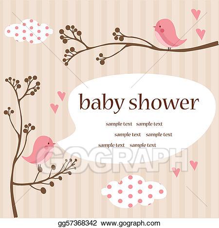 Stock Illustration Baby Girl Shower Clipart Illustrations Delightful.