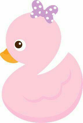 Patito Rosita niña ideal para baby shower molde recortable.
