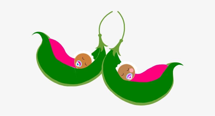 Pea Clipart Twins Baby Shower.